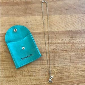 "Tiffany & Co. Elsa Peretti ""K"" Necklace"